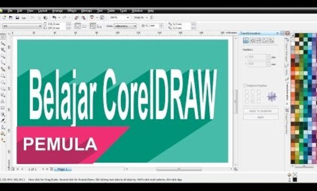 Belajar Coreldraw Untuk Pemula S D Mengerti Fungsi Tools Di Dalamnya