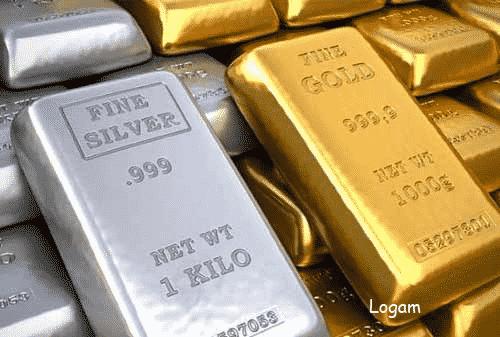 logam emas dan perak