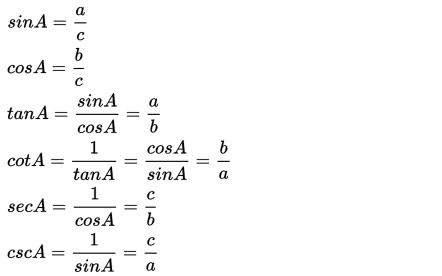 rumus fungsi trigonometri
